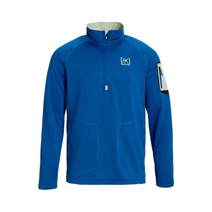 PULOVER B AK GRID HALF ZIP CLASSIC BLUE L