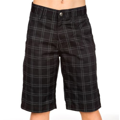 KR HLACE VOL KID FRICKIN PLAID SHORT BLK 24