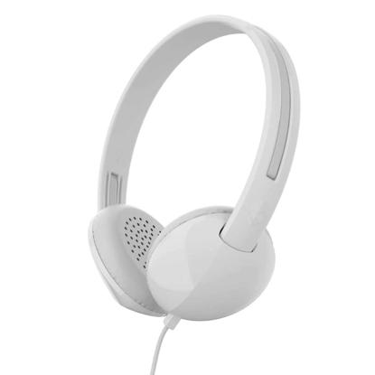 SKULL CANDY STIM ON-EAR W/TAP TECH WHT/GRY/WHT
