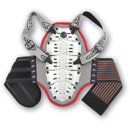 UFO PLAST BACK SUPPORT WB 5-7 WHT/RED 5-7