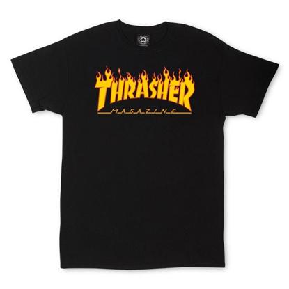 THRASHER MAGAZINE FLAME T-SHIRT BLACK M