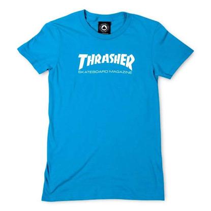 THRASHER MAGAZINE SKATE MAG S/S W BLUE M