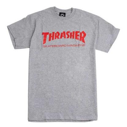 THRASHER MAGAZINE SKATE MAG S/S GRY S