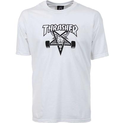 THRASHER MAGAZINE SKATE GOAT S/S WHT S