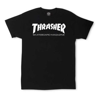 THRASHER MAGAZINE SKATE MAG S/S BLK L