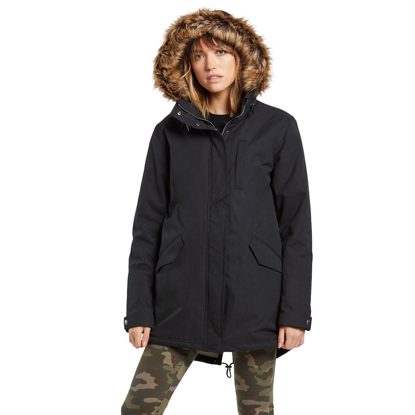 VOLCOM LESS IS MORE 5K PARKA W BLK S