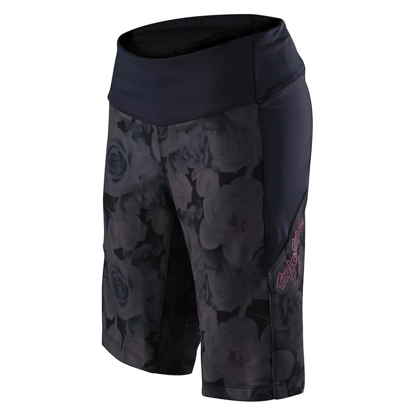TROY LEE DESIGNS WOMEN'S LUXE SHORT SHELL FLORAL BLACK SM