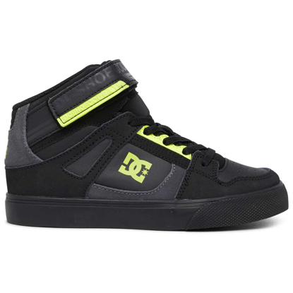 SP COP DC KID PURE HIGH-TOP EV BLK/BLK/YELLOW 11K