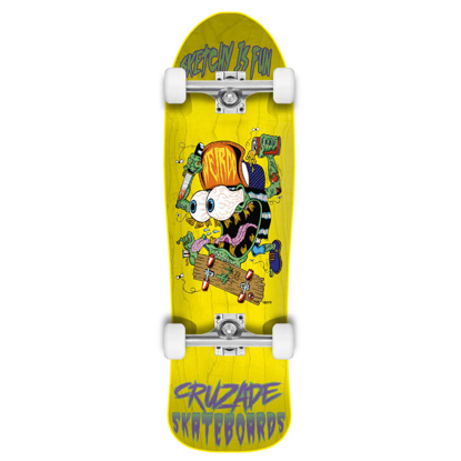 CRUZADE SKATEBOARDS SKETCHY IS FUN 9.0 COMPLETE ASSORTED 9.0