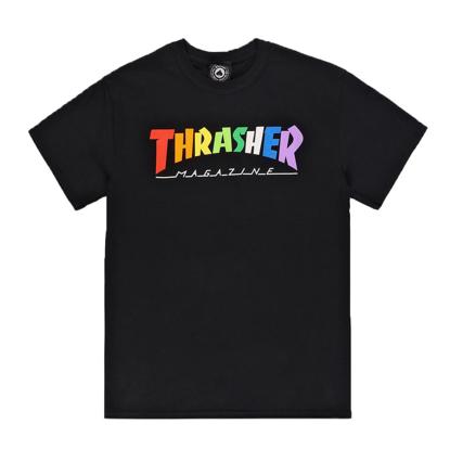 THRASHER MAGAZINE RAINBOW MAG BLACK S
