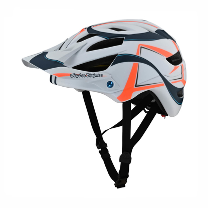 TROY LEE DESIGNS A1 MIPS YOUTH HELMET WELTER WHITE / MARINE OSFA
