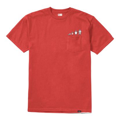 ETNIES FAMILY POCKET T-SHIRT RED S