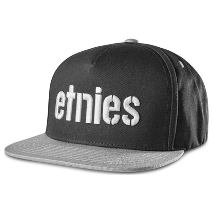 ETNIES CORP SNAPBACK BLACK/GREY UNI