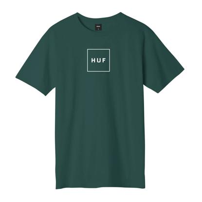 HUF ESSENTIALS BOX LOGO S/S T-SHIRT DARK GREEN S