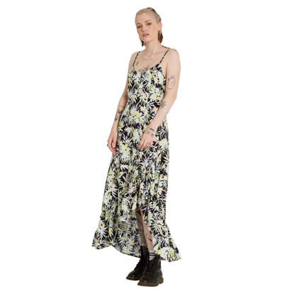 VOLCOM THATS MY TYPE MAXI DRESS W LIME S