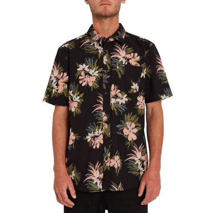 VOLCOM FLORAL WITH CHEESE SHIRT BLACK S