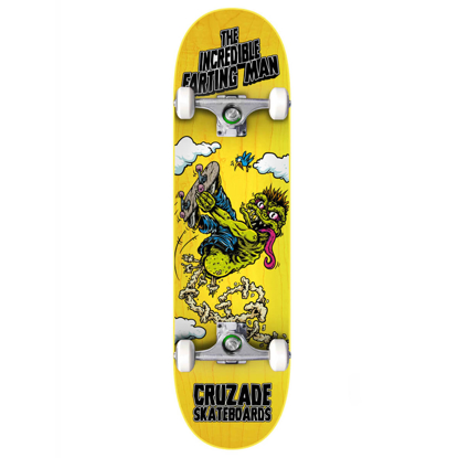 """CRUZADE SKATEBOARDS THE INCREDIBLE FARTING MAN 8.25"""" COMPLETE ASSORTED 8.25""""X31.85"""""""