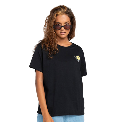 ELEMENT RISE AND SHINE T-SHIRT W BLK S