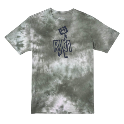 RVCA PEACE OUT T-SHIRT GREEN L