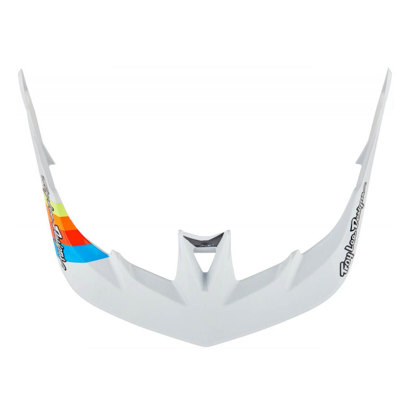 TROY LEE DESIGNS A3 VISOR SIDEWAY WHITE / GRAY OSFA