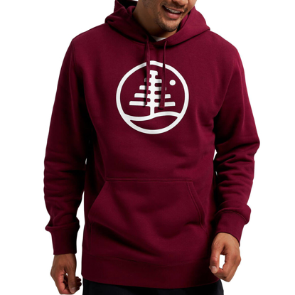 BURTON FAMILY TREE HOODIE MULLED BERRY L