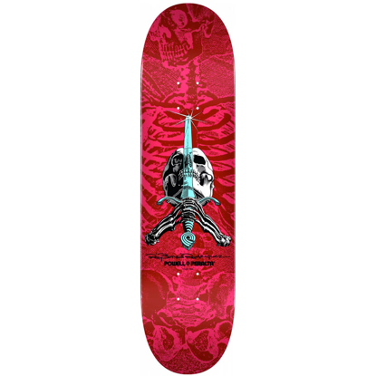 """POWELL SKULL AND SWORD PINK RED 8.5 PINK RED 8.5"""""""